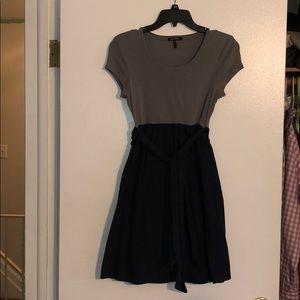 Navy and Grey Daisy Fuentes Dress